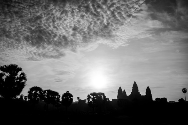 Silhouette of Angkor Wat